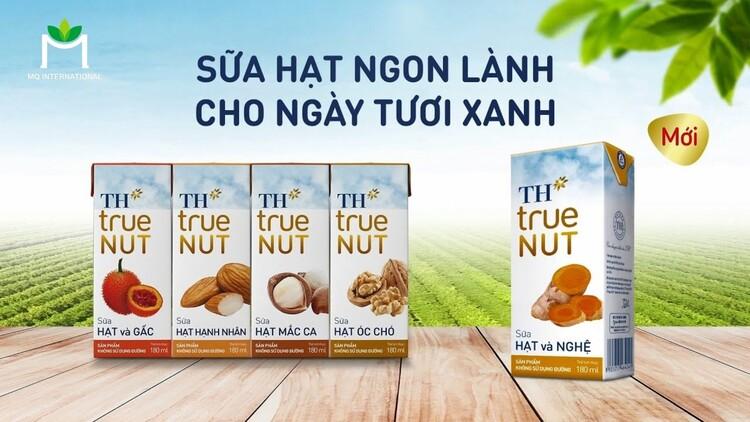 Các dòng sữa hạt TH True Milk đang được bày bán phổ biến trong các siêu thị